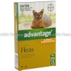 Advantage - For Kittens & Small Cats up to 4kg (Imidacloprid) - 9.1% (0.4mL x 4 Tubes)