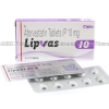 Lipvas (Atorvastatin Calcium) - 10mg (10 Tablets)