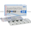 Lipvas (Atorvastatin Calcium) - 20mg (10 Tablets)